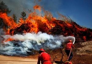 Португалия в кольце лесных пожаров