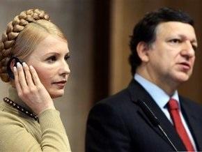 Тимошенко пожелала Баррозу удачи на выборах президента Еврокомиссии