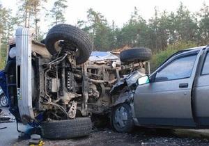 Под Киевом в результате столкновения трех авто пострадали четыре человека