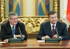 Президент Польши признался, что советовал Януковичу провести перевыборы в спорных округах