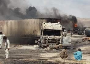 В Афганистане взорвана колонна из 22 автомобилей НАТО