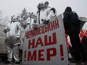 Противники Черновецкого заявили о сносе палаток в центре Киева