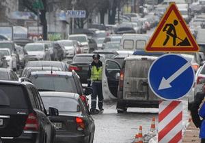 В Киеве до конца сентября ограничили движение на пересечении проспектов Победы и Палладина