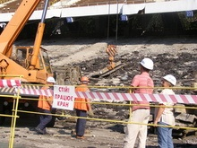 Реконструкция Олимпийского: на стадионе уже убрали сиденья и фонари
