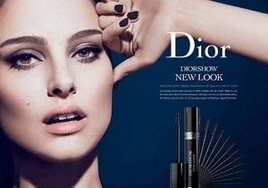 Рекламу Dior запретили из-за чрезмерно густых ресниц Натали Портман