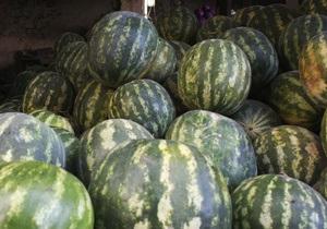 В Киеве начали продавать арбузы