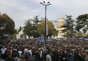 В Тбилиси собрались более пяти тысяч человек, требующих досрочных выборов