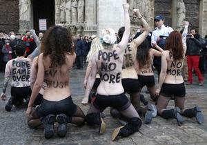 Выборы папы римского не обошлись без  FEMEN
