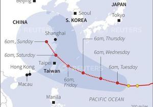 Тысячи туристов эвакуированы с Тайваня из-за надвигающегося тайфуна