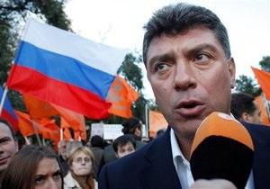В Москве задержали Бориса Немцова и Сергея Удальцова