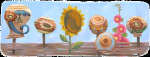 В честь Дня Независимости Украины Google разместила на главной странице праздничный дудл