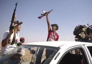 Новые власти Ливии не будут изымать оружие у повстанцев до создания национальной армии
