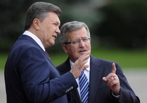 Коморовский обеспокоен ситуацией, которая сложилась после парламентских выборов в Украине