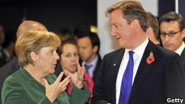 Дэвид Кэмерон и Ангела Меркель обсудят кризис еврозоны