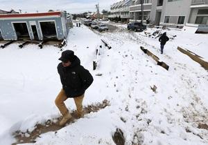 В США из-за снежной бури более полумиллиона людей остаются без света