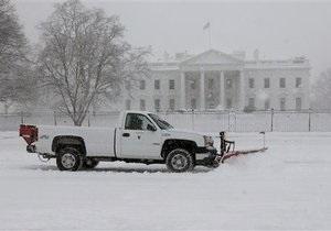 Высота снежного покрова в Вашингтоне побила рекорд вековой давности