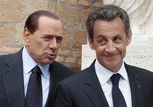 Рим раскритиковал Саркози и Меркель за насмешку над Берлускони