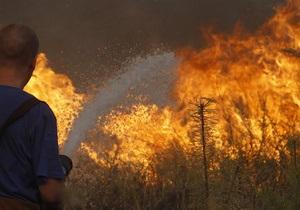 В Украине тушат два пожара, которые уже уничтожили 500 га леса