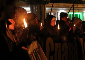 В украинских городах пройдут факельные шествия в честь дня рождения Степана Бандеры