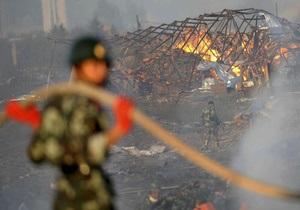 На китайском пиротехническом заводе прогремел взрыв: 13 погибших