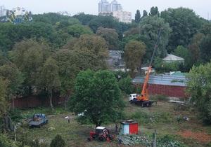 новости Киева - вырубка - киевский зоопарк - Киевляне сообщают о массовой вырубке деревьев недалеко от зоопарка