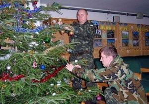 Новый год 2013 - Украинские миротворцы в Косово, Либерии и Конго готовятся к празднованию Нового года
