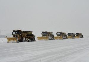 Несмотря на рекордные морозы, аэропорт Борисполь работает в штатном режиме