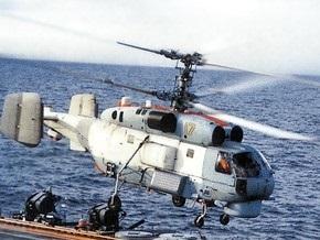 Российский вертолет задел лопастями сторожевой корабль и упал в море