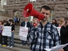 У здания Киевсовета проходит митинг против повышения тарифов