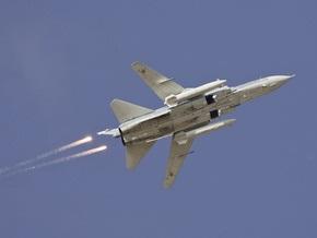 В России разбился бомбардировщик Су-24, пилоты выжили