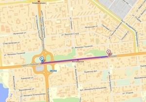 С завтрашнего дня движение на участке проспекта Победы в Киеве ограничат до двух полос