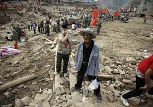Жертвами оползней в Китае стали более 1,1 тысячи человек