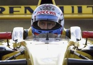Фотогалерея: Кремлевский гонщик. Путин прокатился на болиде Формулы-1
