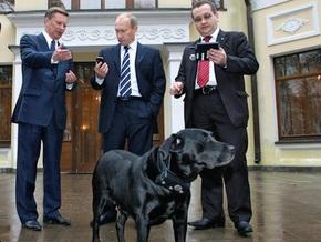 Собаку Путина оснастили ошейником с приемником ГЛОНАСС. Ей понравилось