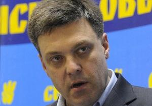 Выборы мэра Киева - Тягнибок - Тягнибок готов идти в мэры Киева и выступает за досрочные выборы президента