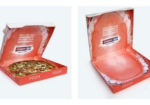 Во Франции зубная паста разместила рекламу внутри коробок с пиццей