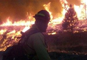Лесные пожары в США: В Айдахо эвакуируют тысячи жителей