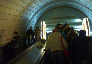 Новости Киева - Киевское метро - В Киеве на станции метро Лыбидская начался ремонт эскалатора