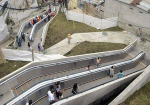 В Колумбии заработал один из крупнейших эскалаторов мира