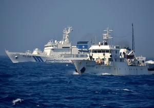 Японцы высаживаются на один из спорных с Китаем островов