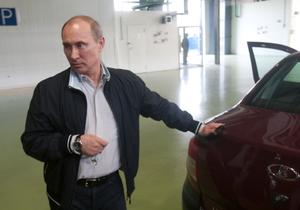 Путин не смог с первого раза завести новую Lada Granta