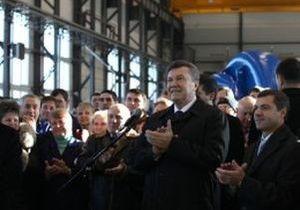 В связи с приездом Януковича работникам сумского завода запретили приносить яйца
