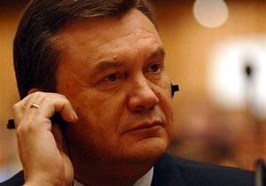 Янукович поговорил с Путиным по телефону