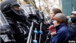 Полиция закрыла лагерь  оккупантов  в Портленде