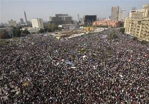 В центре Каира собрались около 100 тысяч демонстрантов