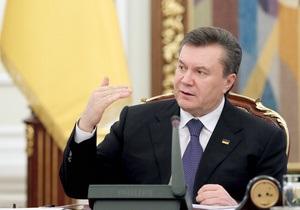 Янукович сулит большое будущее аверсу Одесса-Броды