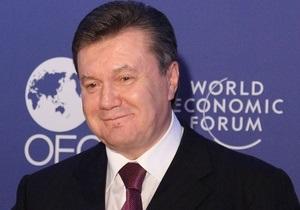 Янукович в Давосе рассказал о своей мечте