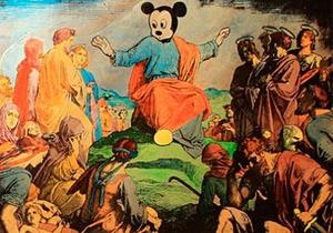 В России картину с Микки Маусом в роли Христа признали экстремистским материалом