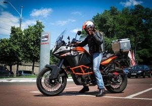 Украинка отправится в кругосветное путешествие на мотоцикле