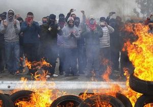 Тысячи шахтеров протестуют в Мадриде против мер экономии